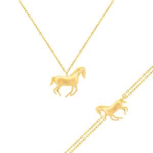 Collier und Armband Pferd