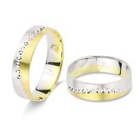 2 x Trauringe 585er Gold Hochzeitsringe inkl. Gravur und Etui Verlobungsringe Gold Eheringe Gravur Diamantiert