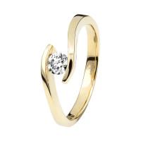 Damen 585(14K) Diamantring Spannring Gelbgold 0,15 carat Ehering Verlobungsring