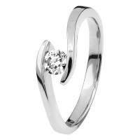 Damen Diamantring Spannring Weißgold 0,5 carat Solitärring Verlobungsring