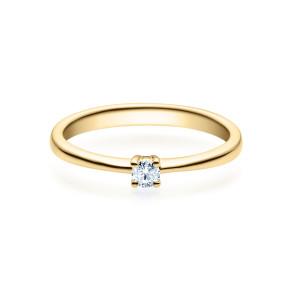 Damen Diamantring 375er Gelbgold Spannring 0,05 carat...