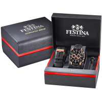 Festina Unisex Erwachsene Chronograph Quarz Smart Watch Armbanduhr mit Edelstahl Armband F20354/1