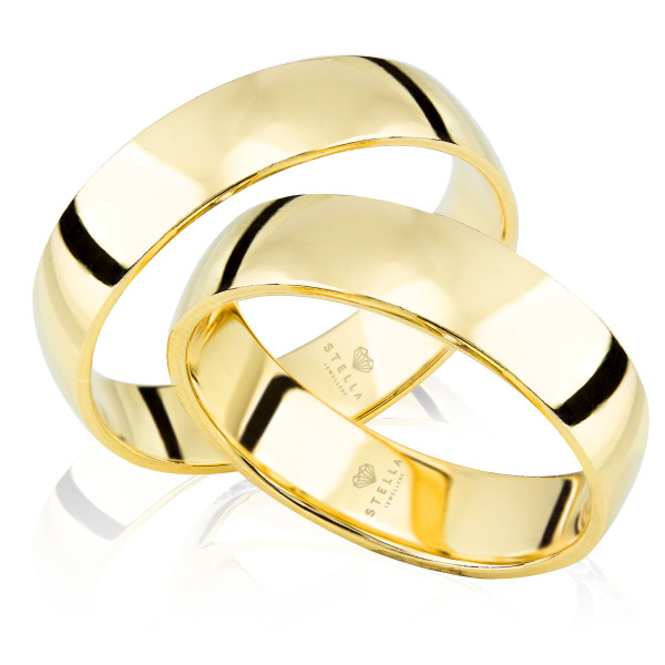 Gelbgold 1 Paar 585 Gold Klassische Trauringe mit Außengravur Nur bei uns