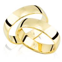 2 x Trauringe 585er Gelbgold Massiv Hochzeitsringe Eheringe inkl. Gravur und Etui