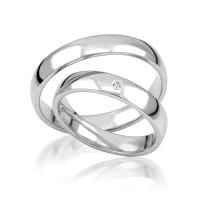 2 x Silber 925 Trauringe Eheringe Verlobungsringe Partnerringe Freundschaftsringe