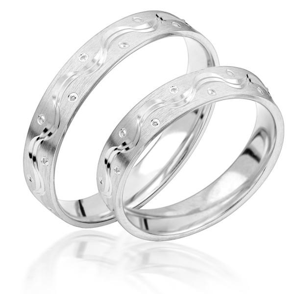 2 x Silber 925 Trauringe Eheringe Verlobungsringe Partnerringe Freundschaftsringe M06