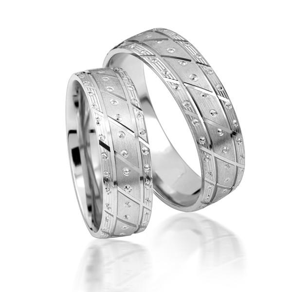 2 x Silber 925 Trauringe Eheringe Verlobungsringe Partnerringe Freundschaftsringe M08