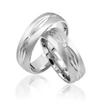 2 x Silber 925 Trauringe Eheringe Verlobungsringe Partnerringe Freundschaftsringe M09