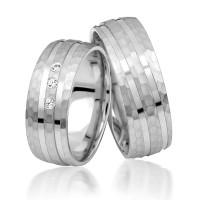 2 x Silber 925 Trauringe Eheringe Verlobungsringe Partnerringe Freundschaftsringe M12