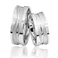 2 x Silber 925 Trauringe Eheringe Verlobungsringe Partnerringe Freundschaftsringe M13
