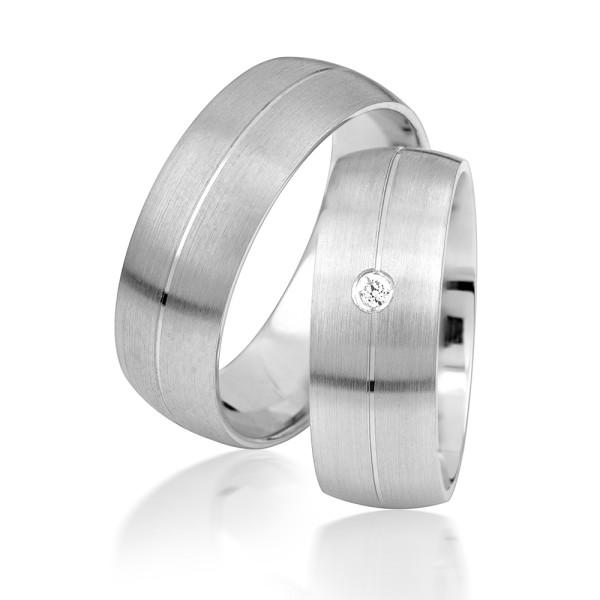 2 x Silber 925 Trauringe Eheringe Verlobungsringe Partnerringe Freundschaftsringe M14