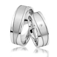 2 x Silber 925 Trauringe Eheringe Verlobungsringe Partnerringe Freundschaftsringe M15