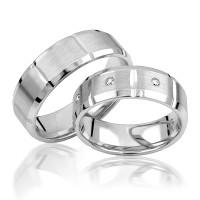 2 x Silber 925 Trauringe Eheringe Verlobungsringe Partnerringe Freundschaftsringe M16