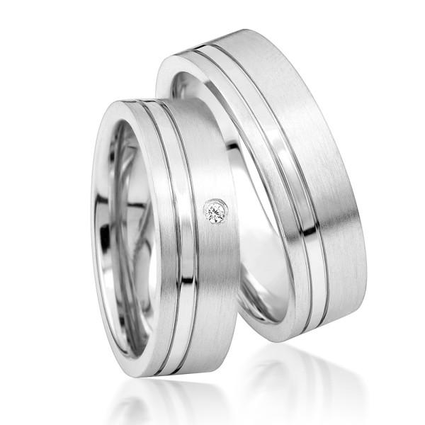 2 x Silber 925 Trauringe Eheringe Verlobungsringe Partnerringe Freundschaftsringe M17
