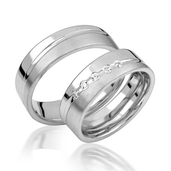 2 x Silber 925 Trauringe Eheringe Verlobungsringe Partnerringe Freundschaftsringe M18