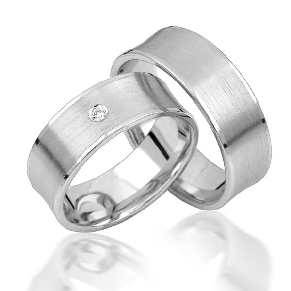 2 x Silber 925 Trauringe Eheringe Verlobungsringe Partnerringe Freundschaftsringe M19