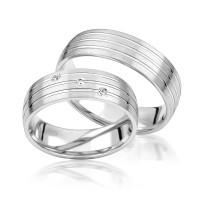 2 x Silber 925 Trauringe Eheringe Verlobungsringe Partnerringe Freundschaftsringe M20
