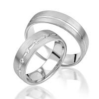 2 x Silber 925 Trauringe Eheringe Verlobungsringe Partnerringe Freundschaftsringe M21