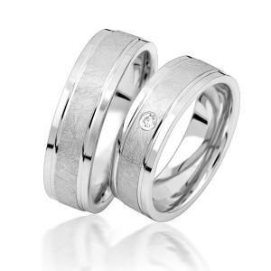 2 x Silber 925 Trauringe Eheringe Verlobungsringe...