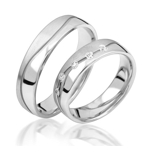 2 x Silber 925 Trauringe Eheringe Verlobungsringe Partnerringe Freundschaftsringe M25