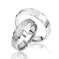 2 x Silber 925 Trauringe Eheringe Verlobungsringe Partnerringe Freundschaftsringe M26
