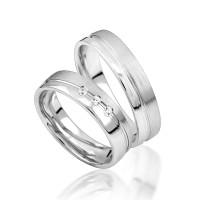 2 x Silber 925 Trauringe Eheringe Verlobungsringe Partnerringe Freundschaftsringe M28