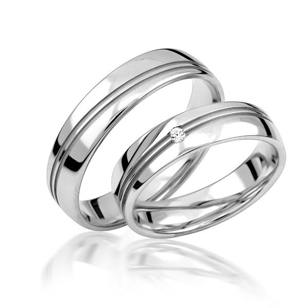 2 x Silber 925 Trauringe Eheringe Verlobungsringe Partnerringe Freundschaftsringe M29