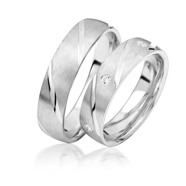 2 x Silber 925 Trauringe Eheringe Verlobungsringe Partnerringe Freundschaftsringe M30