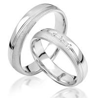 2 x Silber 925 Trauringe Eheringe Verlobungsringe Partnerringe Freundschaftsringe M31