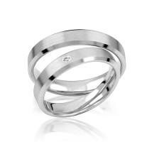 2 x Silber 925 Trauringe Eheringe Verlobungsringe Partnerringe Freundschaftsringe M33