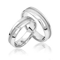 2 x Silber 925 Trauringe Eheringe Verlobungsringe Partnerringe Freundschaftsringe M34