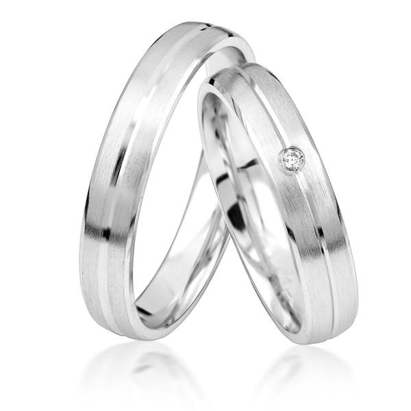 2 x Silber 925 Trauringe Eheringe Verlobungsringe Partnerringe Freundschaftsringe M35