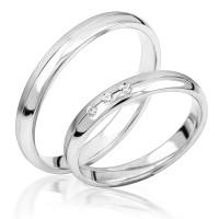 2 x Silber 925 Trauringe Eheringe Verlobungsringe Partnerringe Freundschaftsringe M36