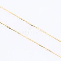 Damen Buchstabenkette Gold 585 Zirkonia Namenskette A - Z Anhänger Gelbgold Halskette