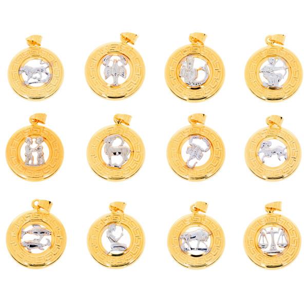 Kettenanhänger Sternzeichen Anhänger 585 Gold Tierkreiszeichen Horoskop 14 Karat