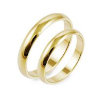 2 x Klassische Trauringe 585er Gelbgold Hochzeitsringe Verlobungsringe Eheringe