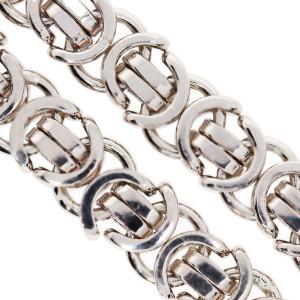 Königskette Massiv 182 Gr. Silber 925 Karabiner...