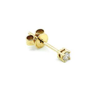 Paar 585er Gelbgold Diamanten Ohrstecker 4er Krappe Solitaire Ohrringe Brilliant