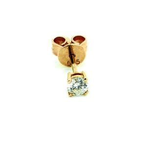 Paar 585er Gelbgold Diamanten Ohrstecker 4er Krappe...