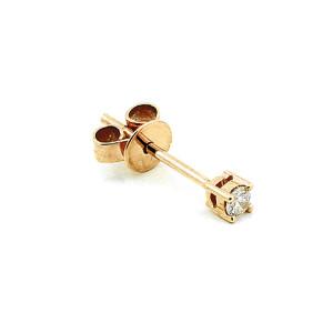 Paar 585er Rotgold Diamanten Ohrstecker 4er Krappe...