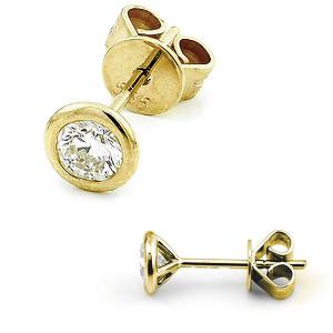 585er Gelbgold Diamanten Ohrstecker Zargenfassung - 0,60 ct.