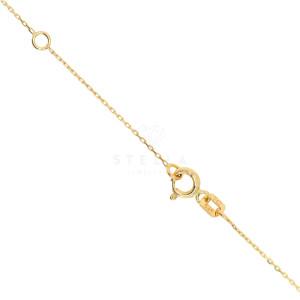 585 Gelbgold Halskette mit Zirkonia Kreuz Anhänger