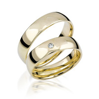 2 xTrauringe GG 375 Hochzeitsringe Verlobungsringe Eheringe Gravur Etui
