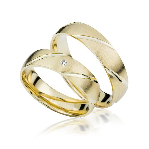 2 xTrauringe GG 375 Hochzeitsringe Verlobungsringe Eheringe Gravur Etui S902