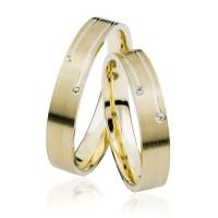 2 xTrauringe GG 375 Hochzeitsringe Verlobungsringe Eheringe Gravur Brillant S910