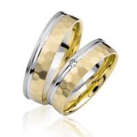 2 xTrauringe 375 9K Hochzeitsringe Verlobungsringe Eheringe Gravur Brillant S915