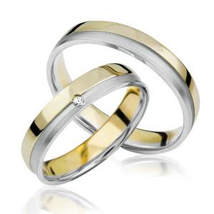 2 xTrauringe 375 9K Hochzeitsringe Verlobungsringe...