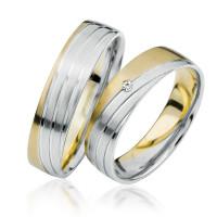 2 xTrauringe 375 9K Hochzeitsringe Verlobungsringe Eheringe Gravur Brillant S919