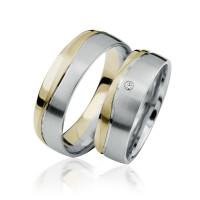 2 xTrauringe 375 9K Hochzeitsringe Verlobungsringe Eheringe Gravur Brillant S921