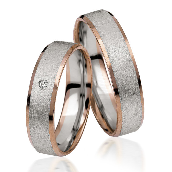 2 xTrauringe 375 9K Hochzeitsringe Verlobungsringe Eheringe Gravur Brillant S926